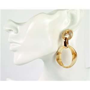 1p de Boucles Oreilles Pendantes à Clou 7cm en acrylique Fashion Colors 76978