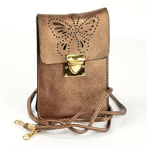 Women's PU Leather Pouch Bag 11 * 17cm New Collection 77045