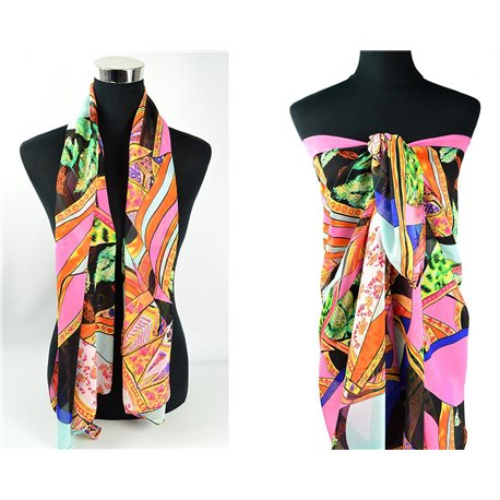 Scarf Pareo sail polyester 140cm-90cm New Summer Collection 77085