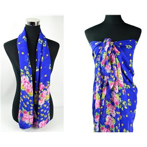 Foulard Paréo voile polyester 140cm-90cm New Collection Eté 77090