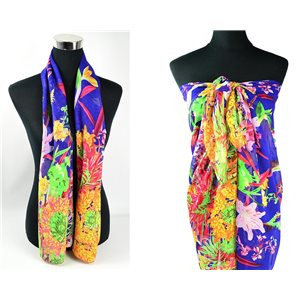 Foulard Paréo voile polyester 140cm-90cm New Collection Eté 77092