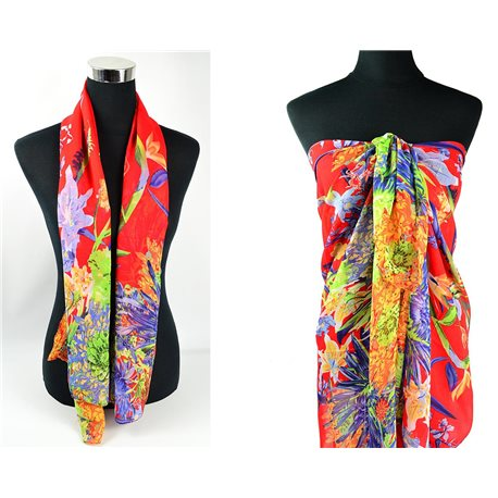 Scarf Pareo sail polyester 140cm-90cm New Summer Collection 77093