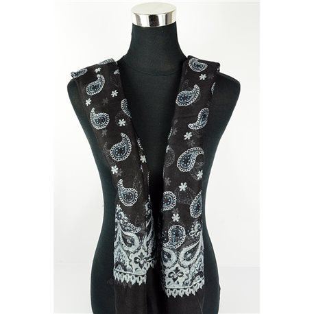 Foulard polyester 180cm-75cm New Collection Eté 77105