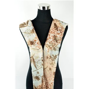 Foulard polyester 180cm-75cm New Collection Eté 77131