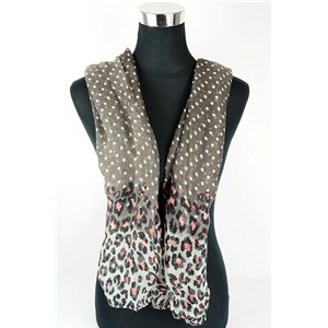 Polyester scarf 180cm-75cm New Summer Collection 77133