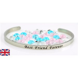 Bracelet Jonc en Acier Inoxydable Message: Best Friend Forever 77314