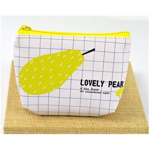 Trousse en polyuréthane Summer Style pour Make Up 12*8cm fermeture zip 77285
