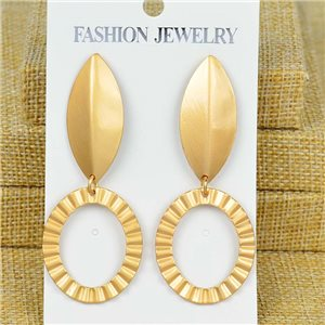 1p Earrings Nail 70mm metal color GOLD New Graphika 77387