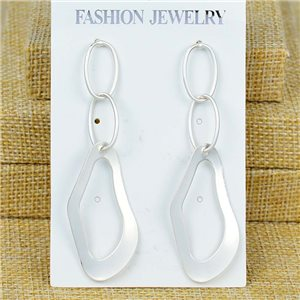 1p Earrings Nail 70mm metal color SILVER New Graphika 77404