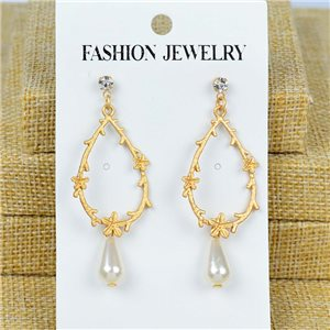 1p Earrings Nail 60mm metal color GOLD New Graphika 77429