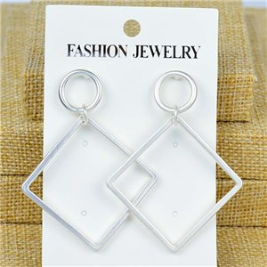 1p Earrings Nail 60mm metal color SILVER New Graphika 77400