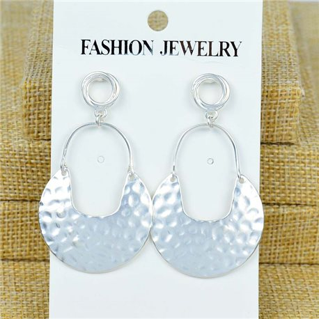 1p Earrings Nail 55mm metal color SILVER New Graphika 77374