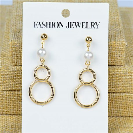 1p Earrings Nail 45mm metal color GOLD New Graphika 77431
