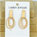 1p Earrings Nail 45mm metal color GOLD New Graphika 77373