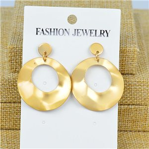 1p Earrings Nail 40mm metal color GOLD New Graphika 77397