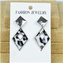 1p Earrings Nail 40mm metal color SILVER New Graphika 77410