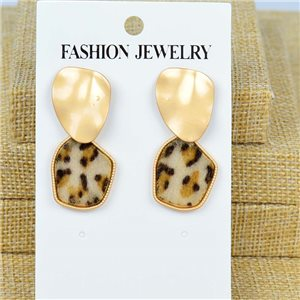 1p Earrings Nail 40mm metal color GOLD New Graphika 77423