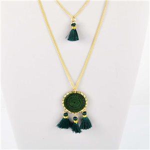 Adornment Pompom Collection 2019 Necklace Multirang chain necklace gold L48cm 76558