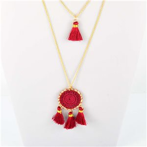 Adornment Collection Pompon 2019 Necklace Sautoir multirang golden chain L48cm 76559