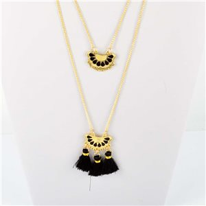Adornment Pompom Collection 2019 Necklace Multirang chain necklace gold L48cm 76561