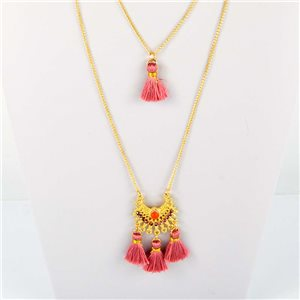 Adornment Collection Pompon 2019 Necklace Long necklace multirang golden chain L48cm 76574