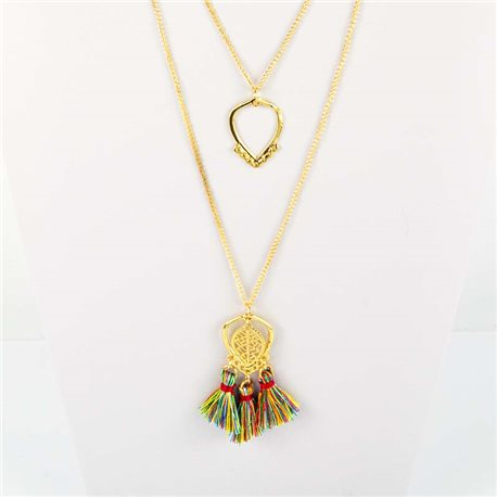 Adornment Collection Pompon 2019 Necklace Sautoir multirang golden chain L48cm 76580