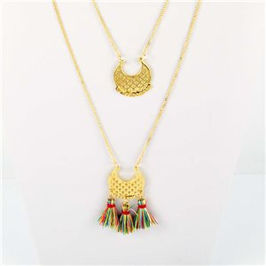 Adornment Pompom Collection 2019 Necklace Multirang chain necklace gold L48cm 76584