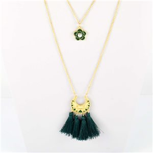 Adornment Collection Pompon 2019 Necklace Long necklace multirang golden chain L48cm 76600