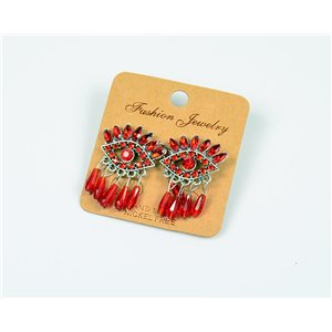 1p Earrings Nail Beads and Rhinestones Ethnic New Collection 77594