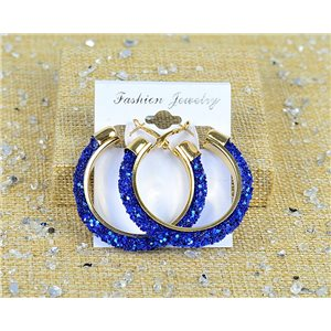1p earrings with sequins creoles 45mm clamshell closure New Collection 77682