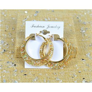 1p Earrings Spangled Hoops 45mm clamshell New Collection 77690