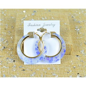 1p Earrings Spangled Hoops 45mm clamshell closure New Collection 77695