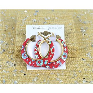 1p Earrings Spangled Hoops 45mm clamshell New Collection 77705