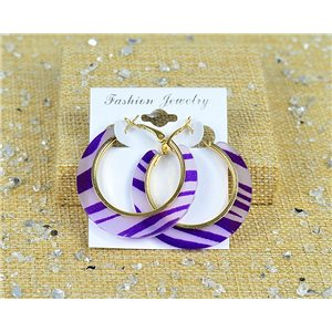 1p Earring Earrings Chamarrés Hoops 45mm clamshell New Collection 77702