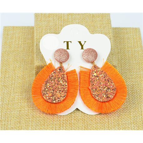 1p Earrings with Nail Pompon and Sequins New Collection Chic 77897