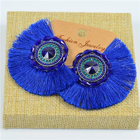 1p Earrings Earrings Handmade Beads and Rhinestones Ethnic New Collection 77799