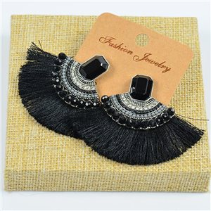 1p Earrings Earrings Handmade Beads and Rhinestones Ethnic New Collection 77800