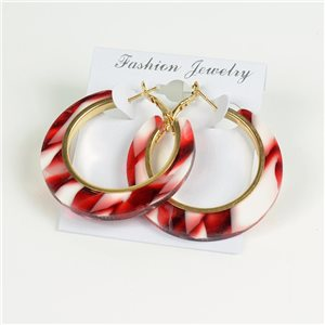 1p Earrings Chamarrés Creoles 45mm flap closure New Collection 78184