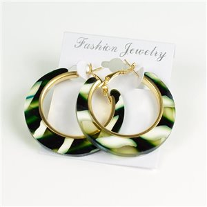 1p Earrings Chamarrés Creoles 45mm flap closure New Collection 78188