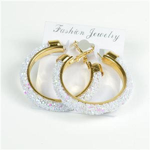 1p Hoop Earrings with Sequins 45mm flap closure New Collection 78210