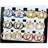 Lot 12p Hoop Earrings with Sequins 45mm flap closure New Collection 78218