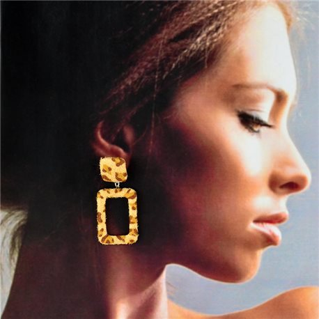 1p Stud Earrings 5cm Panther Chic Fashion Pattern 78271