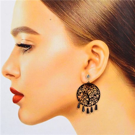 1p Filigree Stud Earrings Zircon and Tassels New Collection 78372