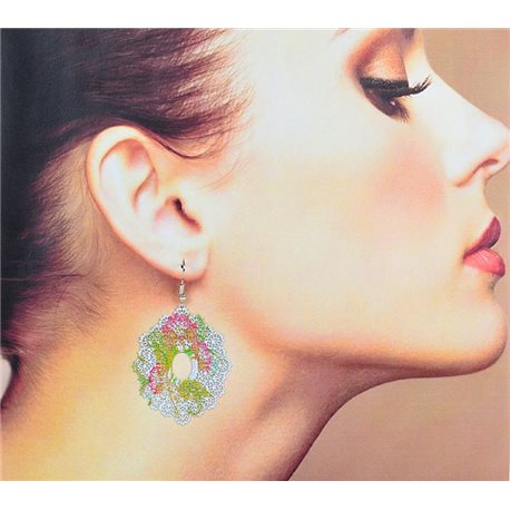 1p Filigree Earrings with silver hook New Ethnic Collection 78335
