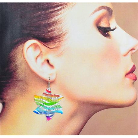 1p Filigree Earrings with silver hook New Ethnic Collection 78337