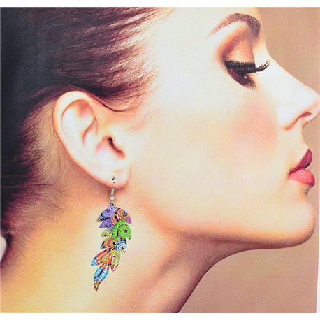 1p Filigree Earrings with silver hook New Ethnic Collection 78338