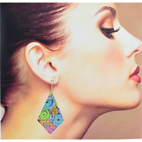 1p Filigree Earrings with silver hook New Ethnic Collection 78349