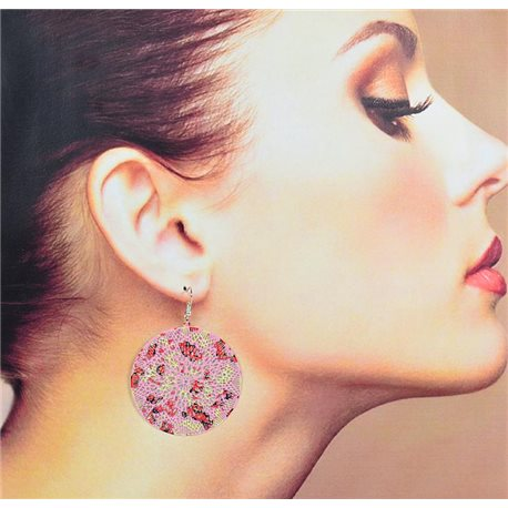 1p Filigree Earrings with silver hook New Ethnic Collection 78352