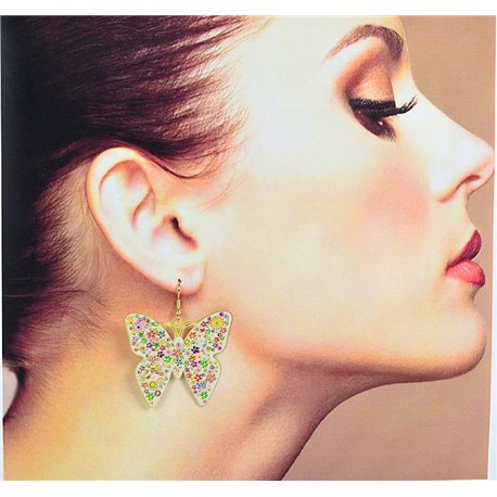 1p Filigree Earrings with golden hook New Ethnic Collection 78358