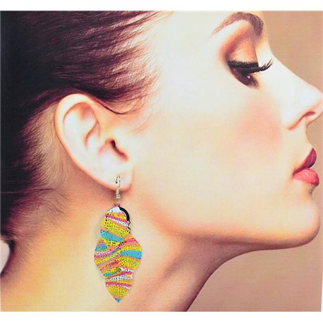 1p Filigree Earrings with silver hook New Ethnic Collection 78343